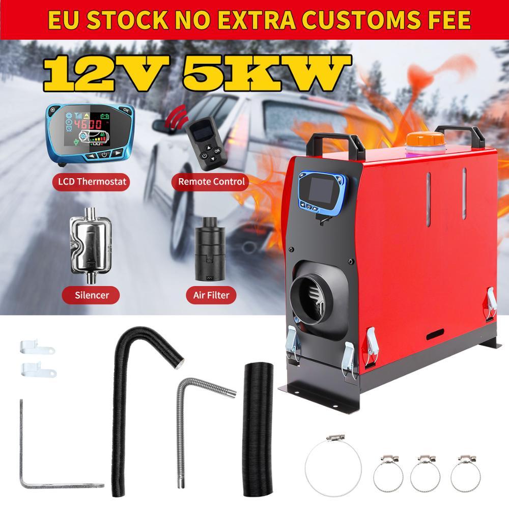 Renoster 12V 5KW All IN 1 Diesel Air Heater Thermostat Air Parking Warmer Portable Car Heater for Caravan Motorhome Camper Van